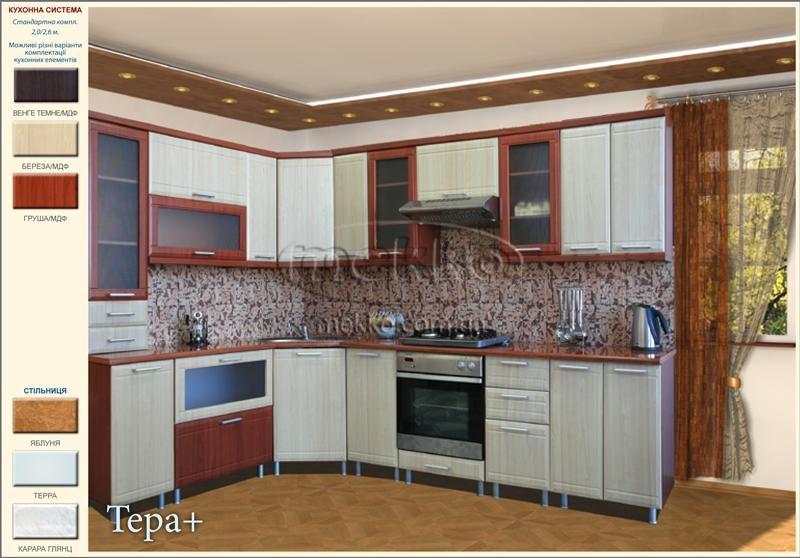 Кухня угловая тера столешница Мойдодыры искуственный камень Сретенский бульвар