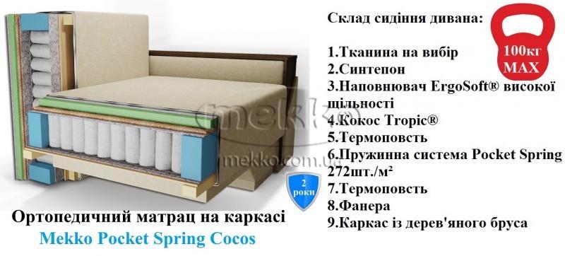 Ортопедичний кутовий диван Senator (Сенатор) (2500×1500) фабрика Mekko-21